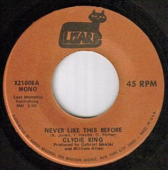 CLYDIE KING - NEVER LIKE THIS BEFORE - LIZARD