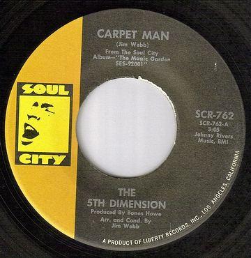 FIFTH DIMENSION - CARPET MAN - SOUL CITY