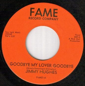 JIMMY HUGHES - GOODBYE MY LOVER GOODBYE - FAME red
