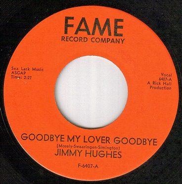 JIMMY HUGHES - GOODBYE MY LOVER GOODBYE - FAME red