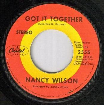 NANCY WILSON - GOT IT TOGETHER - CAPITOL