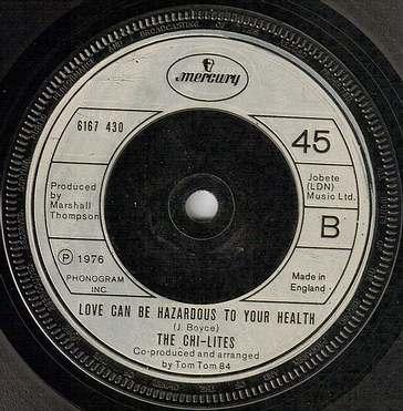 CHI-LITES - LOVE CAN BE HAZARDOUS TO YOUR HEALTH - UK MERCURY