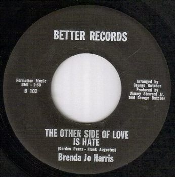 BRENDA JO HARRIS - THE OTHER SIDE OF LOVE IS HATE - BETTER