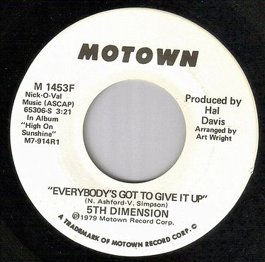 5TH DIMENSION - EVERYBODY'S GOT TO GIVE IT UP - MOTOWN dj
