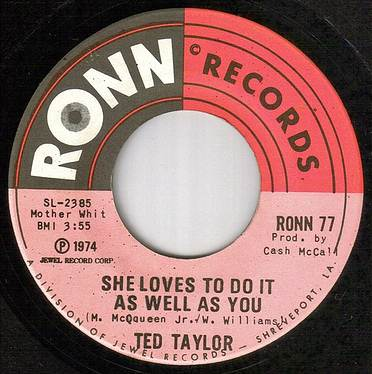 TED TAYLOR - SHE LOVES TO DO IT - RONN