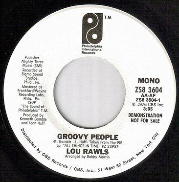 LOU RAWLS - GROOVY PEOPLE - PIR dj