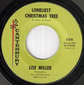 LISE MILLER - LONELIEST CHRISTMAS TREE - CANTERBURY gold label