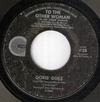 DORIS DUKE - TO THE OTHER WOMAN - CANYON