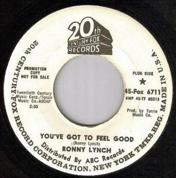 RONNY LYNCH - YOU'VE GOT TO FEEL GOOD - 20TH CENTURY dj