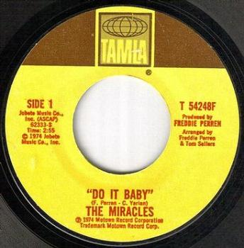 MIRACLES - DO IT BABY - TAMLA