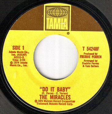MIRACLES - DO IT BABY - TAMLA