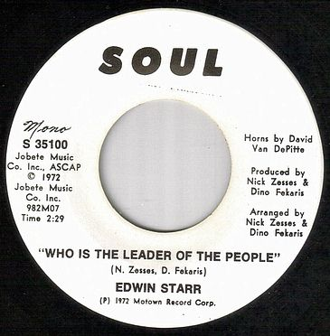 EDWIN STARR - WHO IS THE LEADER OF THE PEOPLE - SOUL dj