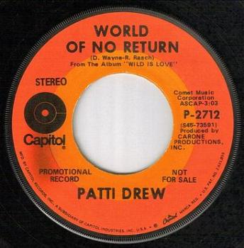 PATTI DREW - WORLD OF NO RETURN - CAPITOL