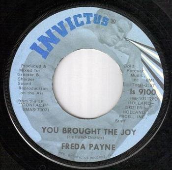 FREDA PAYNE - YOU BROUGHT THE JOY - INVICTUS