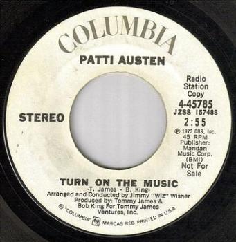 PATTI AUSTEN - TURN ON THE MUSIC - COLUMBIA dj