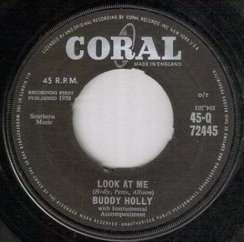 BUDDY HOLLY - LOOK AT ME - CORAL