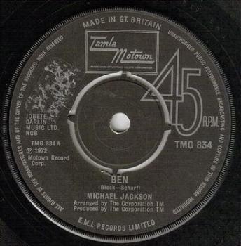 MICHAEL JACKSON - BEN - TMG 834