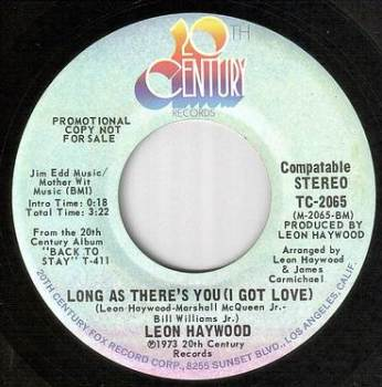 LEON HAYWOOD - LONG AS THERE'S YOU - 20TH CENTURY