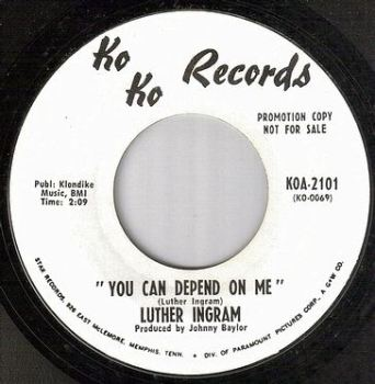 LUTHER INGRAM - YOU CAN DEPEND ON ME - KO KO dj