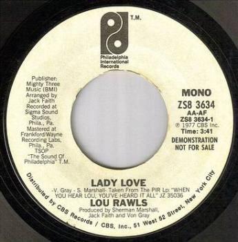 LOU RAWLS - LADY LOVE - PIR dj