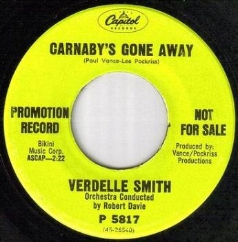 VERDELLE SMITH - CARNABY'S GONE AWAY - CAPITOL dj