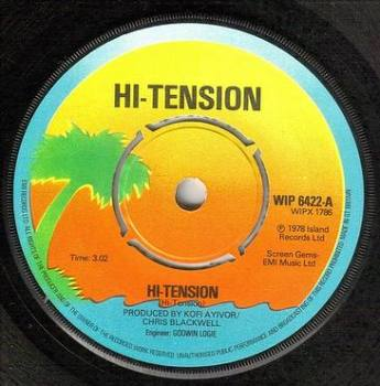 HI-TENSION - HI-TENSION - ISLAND