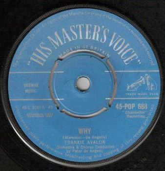 FRANKIE AVALON - WHY - HMV