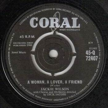 JACKIE WILSON - A WOMAN, A LOVER, A FRIEND - CORAL