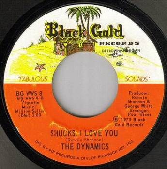 DYNAMICS - SHUCKS I LOVE YOU - BLACK GOLD