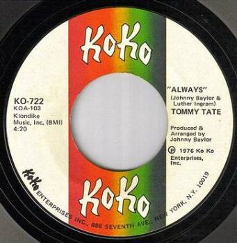 TOMMY TATE - ALWAYS - KO KO