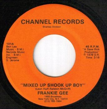 FRANKIE GEE - MIXED UP SHOOK UP BOY - CHANNEL