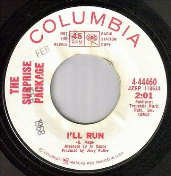 SURPRISE PACKAGE - I'LL RUN - COLUMBIA dj