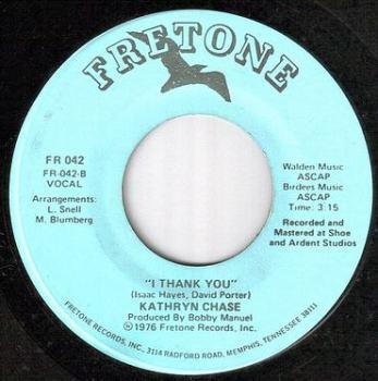 KATHRYN CHASE - I THANK YOU - FRETONE