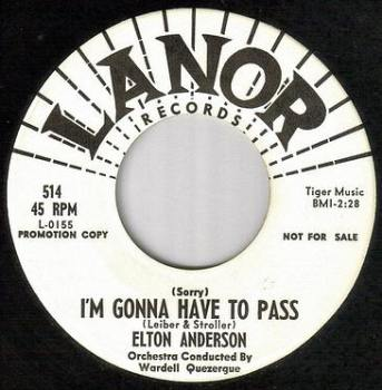 ELTON ANDERSON - I'M GONNA HAVE TO PASS - LANOR dj