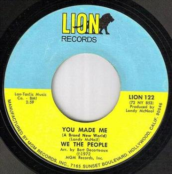 WE THE PEOPLE - YOU MADE ME - LION