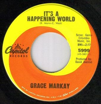 GRACE MARKAY - IT'S A HAPPENING WORLD - CAPITOL