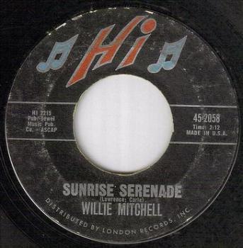 WILLIE MITCHELL - SUNRISE SERENADE - HI