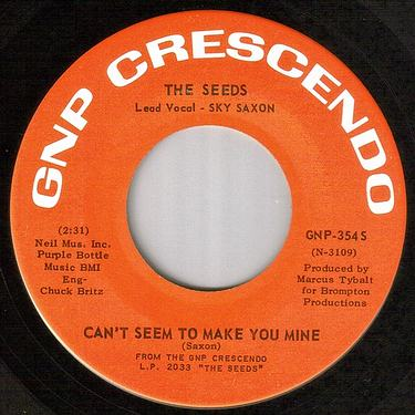 SEEDS - CAN'T SEEM TO MAKE YOU MINE - GNP CRESCENDO
