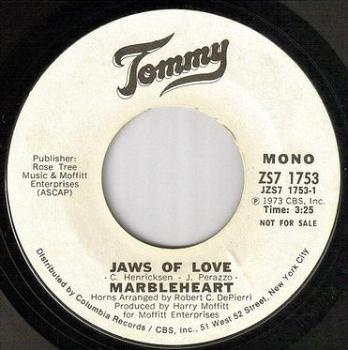 MARBLEHEART - JAWS OF LOVE - TOMMY W/DJ