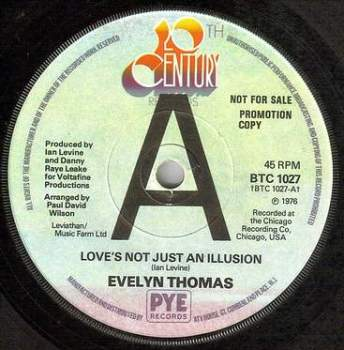 EVELYN THOMAS - LOVE'S NOT JUST AN ILLUSION - 20TH CENTURY dj