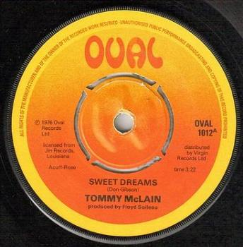 TOMMY McLAIN - SWEET DREAMS - UK OVAL