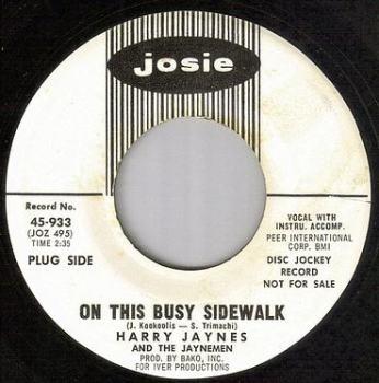 HARRY JAYNES - ON THIS BUSY SIDEWALK - JOSIE dj