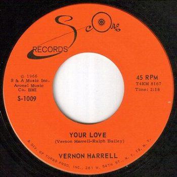 VERNON HARRELL - YOUR LOVE - SCORE