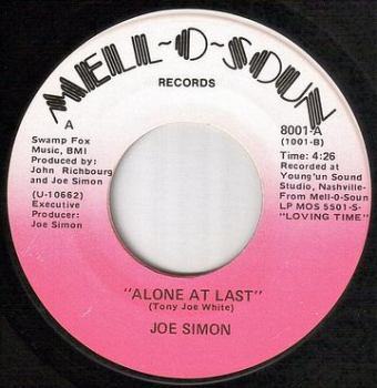 JOE SIMON - ALONE AT LAST - MELL O SOUN