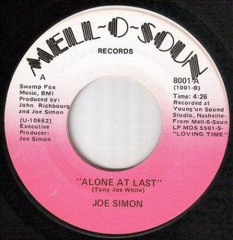 JOE SIMON - ALONE AT LAST - MELL O SOUN