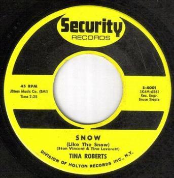 TINA ROBERTS - SNOW (LIKE THE SNOW) - SECURITY