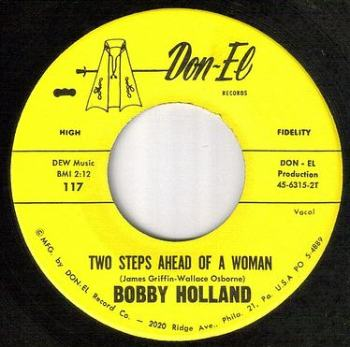 BOBBY HOLLAND - TWO STEPS AHEAD OF A WOMAN - DON-EL
