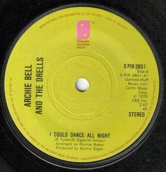ARCHIE BELL - I COULD DANCE ALL NIGHT - PIR