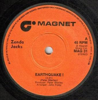 ZENDA JACKS - EARTHQUAKE - MAGNET