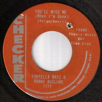 FONTELLA BASS & BOBBY McCLURE - YOU'LL MISS ME - CHECKER